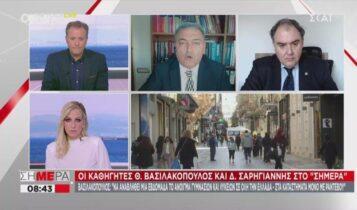 Βασιλακόπουλος: «Δεν έχει κανένα νόημα η απαγόρευση κυκλοφορίας από τις 18:00» (VIDEO)