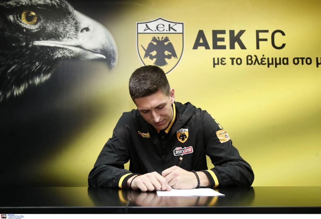 Το μέλλον της ΑΕΚ: Εικόνες από τις υπογραφές των Μαχαίρα, Μιτάι, Κοσίδη