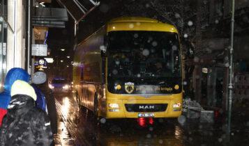 Η άφιξη της ΑΕΚ στη Λάρισα (ΦΩΤΟ)