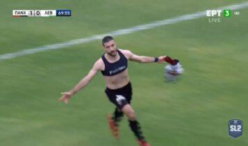 Παναχαϊκή-Λεβαδειακός: Ξανά ο Αραβίδης, ανενόχλητος με κεφαλιά το 2-0 (VIDEO)