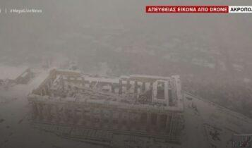 Ιστορικός χιονιάς «σαρώνει» την Αττική - Νύχτα εφιάλτης για τα Βόρεια Προάστια (VIDEO)