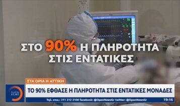 Στα όρια η Αττική: Το 90% έφθασε η πληρότητα στις ΜΕΘ (VIDEO)