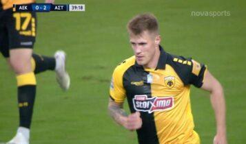 ΑΕΚ-Αστέρας Τρίπολης: Τρομερός Σιμάνσκι, υπέροχο γκολ και 1-2 στο ΟΑΚΑ! (VIDEO)