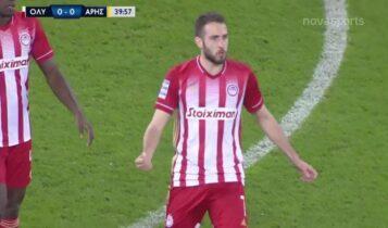 Ολυμπιακός-Αρης: Εκανε το 1-0 ο Φορτούνης μετά από... τρικυμία στην άμυνα (VIDEO)