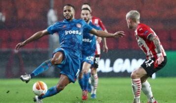 Europa League: Πρόκριση παρά την ήττα (2-1) από την Αϊντχόφεν για τον Ολυμπιακό (VIDEO)
