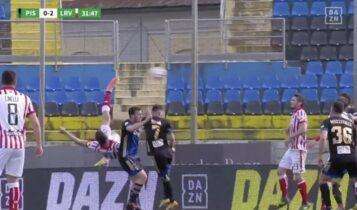 Απίθανη γκολάρα με… πλάγιο «ψαλιδάκι» στη Β' Ιταλίας! (VIDEO)