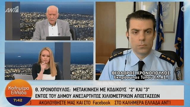 Χρονόπουλος: «Το όριο με τα 2 χιλιόμετρα δεν ισχύει μέσα στον δήμο» (VIDEO)
