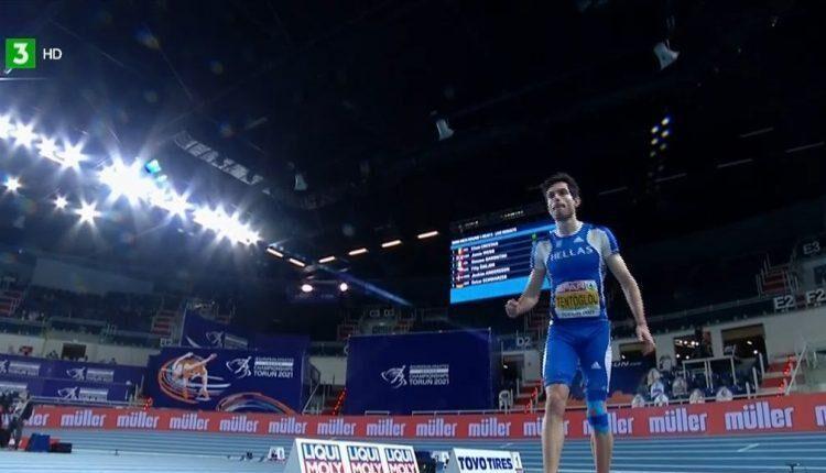 Ευρωπαϊκό Πρωτάθλημα Κλειστού Στίβου 2021: Δείτε την «πτήση» του Τεντόγλου στο πρώτο του άλμα στο Τορούν (VIDEO)