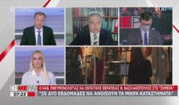 Βασιλακόπουλος: Να ανοίξουν μικρά μαγαζιά σε 2 εβδομάδες (VIDEO)