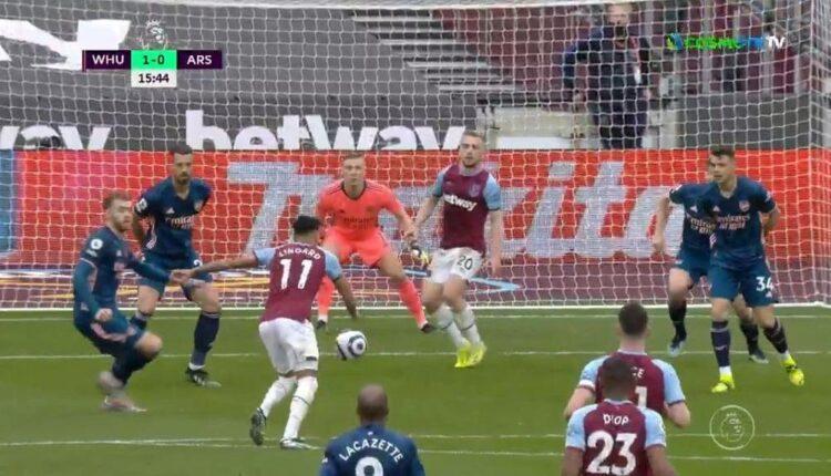 Γουέστ Χαμ-Αρσεναλ: Τρομερή γκολάρα Λίνγκαρντ για το 1-0 και το 2-0 μετά από δύο λεπτά! (VIDEO)
