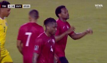 Λιβάι Γκαρσία: Τρομερή εμφάνιση με γκολ και ασίστ για το Τρινιντάντ στο 3-0 με τη Γουιάνα (VIDEO)