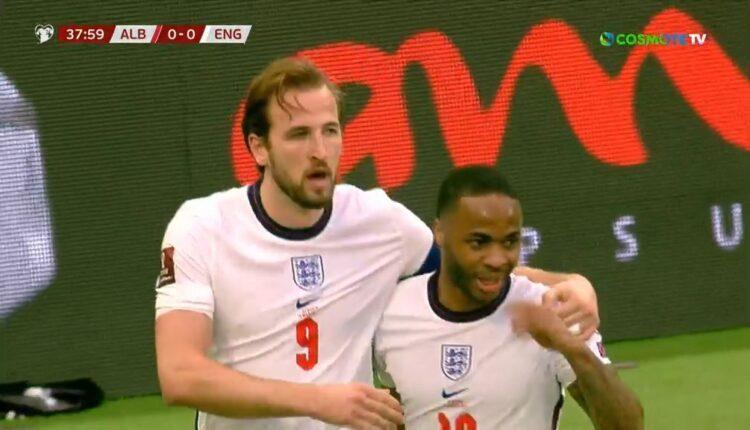 Αλβανία-Αγγλία: Γκολάρα του Κέιν για 0-1 (VIDEO)