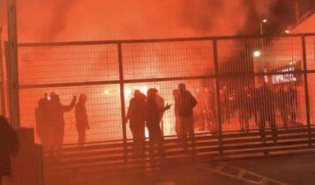 Ολυμπιακός: Ξεσάλωσαν στου Ρέντη, άναψε καπνογόνο ο Ελ Αραμπί