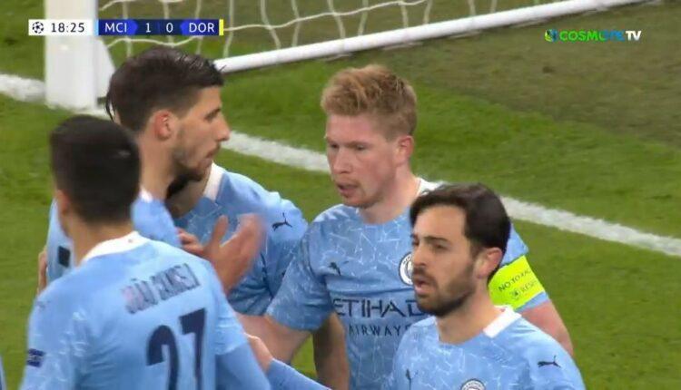 Μάντσεστερ Σίτι-Ντόρτμουντ: 1-0 με Ντε Μπρόινε (VIDEO)