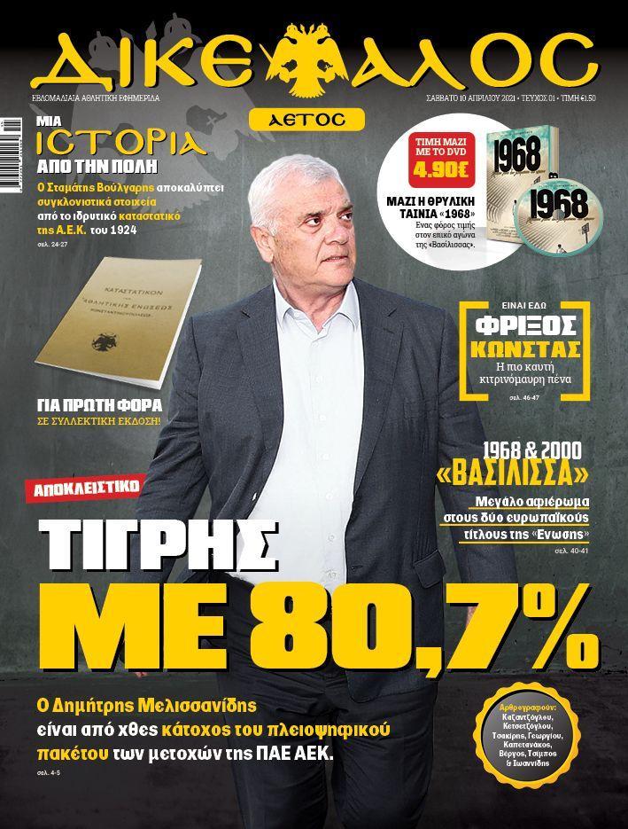 Ο Μελισσανίδης μπαίνει μπροστά: Μεγαλομέτοχος με 80,74% στην ΠΑΕ ΑΕΚ!