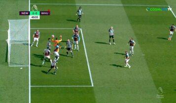 Νιουκάστλ-Γουέστ Χαμ: 2-0 με ακόμα ένα αμυντικό λάθος (VIDEO)
