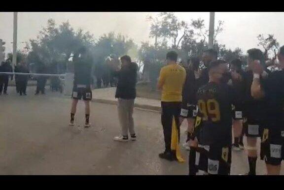 ΑΕΚ: Αποθέωση για την ομάδα χάντμπολ πριν την μεγάλη «μάχη» με την Γκορένιε (VIDEO)