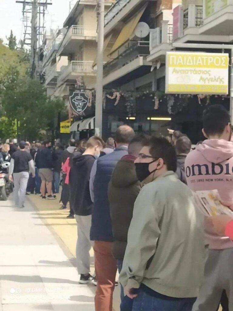 Τρέλα για μία φανέλα -Ουρές ΑΕΚτζήδων στη Νέα Φιλαδέλφεια έξω από το AEK CS! (ΦΩΤΟ)