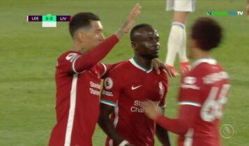 Λιντς-Λίβερπουλ: Ο Μανέ το 0-1 (VIDEO)
