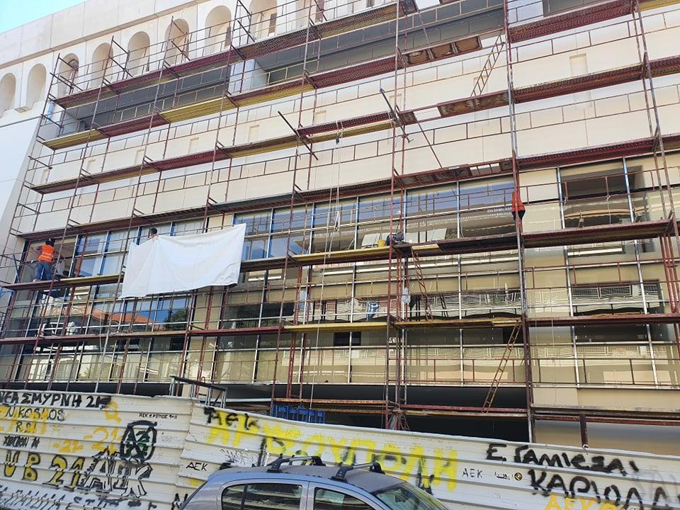 «Αγιά Σοφιά-OPAP Arena»: Μπήκαν τα πρώτα παράθυρα στο εξωτερικό του γηπέδου (ΦΩΤΟ-VIDEO)