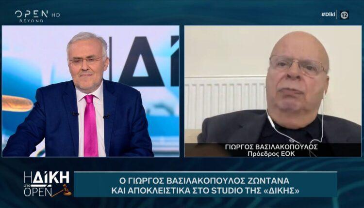Βασιλακόπουλος: «Kάποιοι έχουν πρόβλημα με την ηλικία μου-Το πέρασμά μου από τον αθλητισμό τελείωσε» (VIDEO)