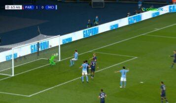 Παρί Σεν Ζερμέν - Μάντσεστερ Σίτι: Ισοφάρισε σε 1-1 με σέντρα Ντε Μπρόινε (VIDEO)