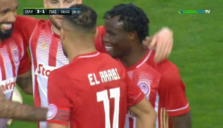 Ολυμπιακός-ΠΑΣ Γιάννινα: Εκανε το 3-1 ο Μπρούμα (VIDEO)