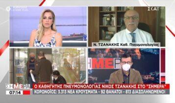 Τζανάκης: «Αρνούνται να κάνουν το Astrazeneca, αλλά καπνίζουν χωρίς ενδοιασμό» (VIDEO)