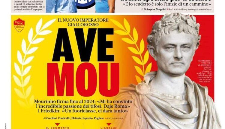 Η «Gazzetta dello Sport» έντυσε Καίσαρα τον Μουρίνιο (ΦΩΤΟ)