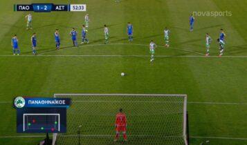 Παναθηναϊκός-Αστέρας Τρίπολης: Ο Γκορτσίλας ισοφάρισε τα πέναλτι και 2-2 ο ΠΑΟ (VIDEO)