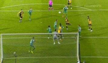 Παναθηναϊκός-ΑΕΚ: Η μεγάλη ευκαιρία για το 0-2 με το δοκάρι του Σβάρνα (VIDEO)