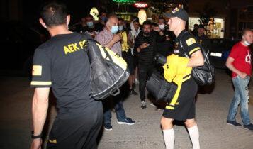ΑΕΚ: «Ζεστή» υποδοχή στην αποστολή στην Τρίπολη (ΦΩΤΟ)