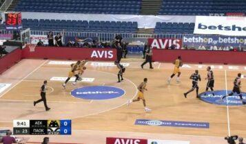 Τα highlights από το ΑΕΚ-ΠΑΟΚ 102-89 (VIDEO)