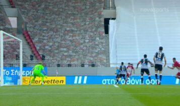 Ολυμπιακός-ΠΑΟΚ: Το δοκάρι του Ανδρούτσου και το άστοχο σουτ του Μπρούμα (VIDEO)