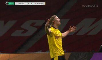Λειψία-Ντόρτμουντ: Χάαλαντ σε ρόλο... θωρηκτού και 0-2! (VIDEO)