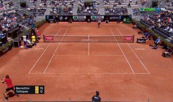 Σούπερ Τσιτσιπάς: Κέρδισε και «έκλεισε» ραντεβού με Τζόκοβιτς στους «8» του Italian Open (VIDEO)