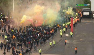 Τα επεισόδια έξω από το Old Trafford πριν τη σέντρα του Μάντσεστερ Γιουνάιτεντ-Λίβερπουλ (VIDEO)
