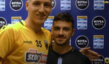 Ο Κοσίδης βράβευσε τον Γαλανόπουλο για το Best Goal: «Ευχαριστώ τον Μάνταλο και τους φιλάθλους» (VIDEO)