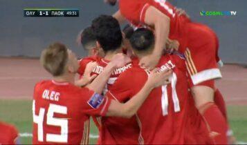 Ολυμπιακός-ΠΑΟΚ: Ο Εμβιλά το 1-1 (VIDEO)