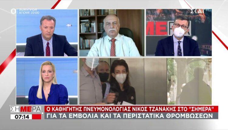 Τζανάκης: «Πάνω από 2000 κρούσματα την Τρίτη» (VIDEO)