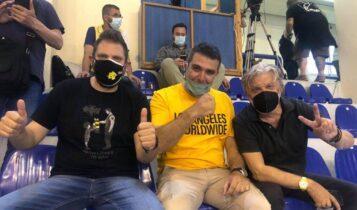 AEK: Στη Χαλκίδα στο πλευρό της ομάδας χάντμπολ και ο Γιάννης Βούρος (ΦΩΤΟ)