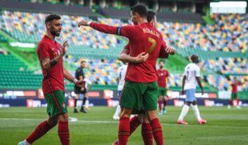 Ανετα η Πορτογαλία το Ισραήλ (4-0) λίγο πριν την έναρξη του EURO 2021 (VIDEO)
