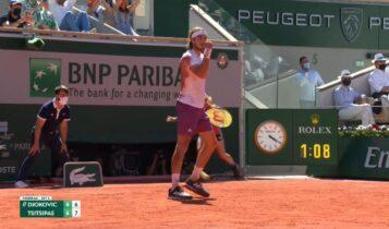 Roland Garros: Εκπληκτικό τένις και 1-0 σετ ο Τσιτσιπάς (VIDEO)
