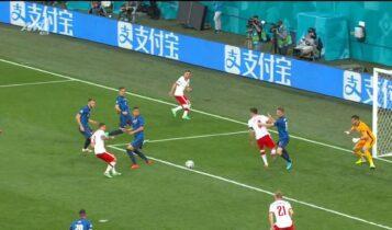Πολωνία-Σλοβακία: 13 επαφές, 21'' από τη σέντρα και 1-1 ο Λινέτι (VIDEO)