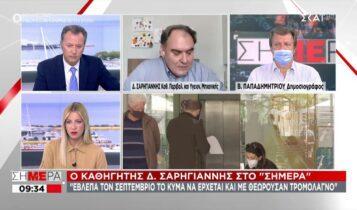 Σαρηγιάννης: «Τέλη Οκτωβρίου το τέταρτο κύμα κορωνοϊού» (VIDEO)
