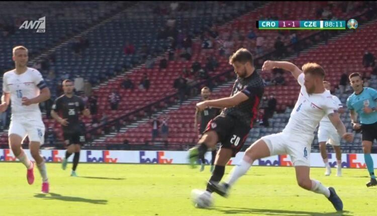 EURO 2021: Σε μπελάδες η Κροατία, 1-1 με την Τσεχία (VIDEO)