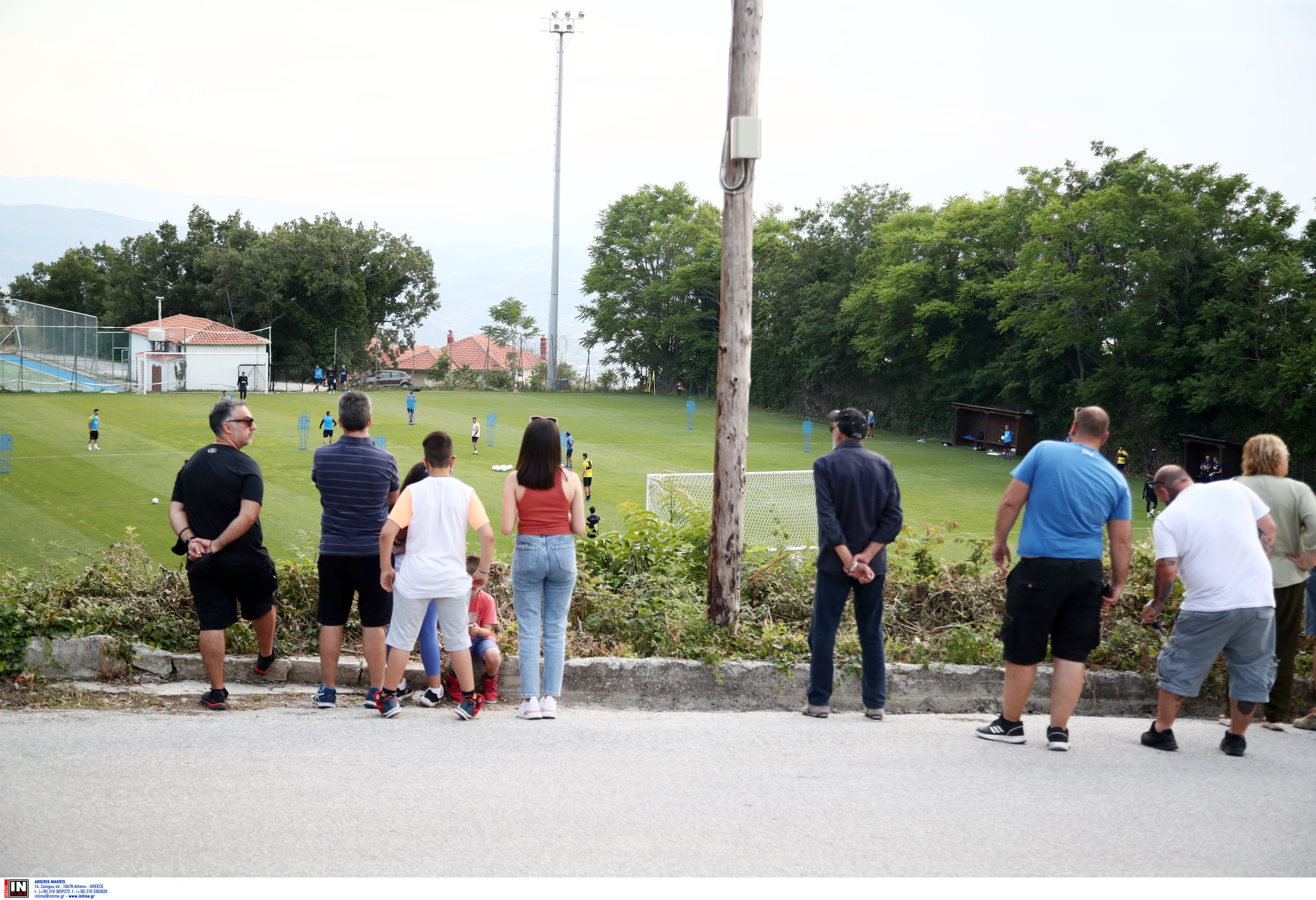 Εικόνες από την απογευματινή προπόνηση της ΑΕΚ στην Πορταριά: 3η ημέρα