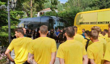 Χαμός στην Πορταριά για την ΑΕΚ: 100 οπαδοί της Original 21 φώναξαν «ΑΕΚ γερά-γερά Πρωτάθλημα ξανά!» (ΦΩΤΟ)