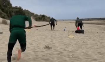 Εντσάμ: «Φορτσάρει» για ΑΕΚ με προπόνηση σε παραλία! (VIDEO)
