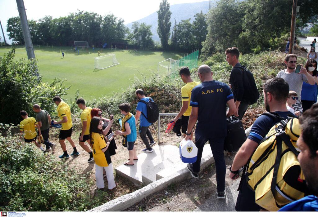 Εικόνες από την απογευματινή προπόνηση της ΑΕΚ στην Πορταριά: 6η ημέρα